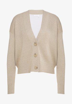 Cardigan - beige /white