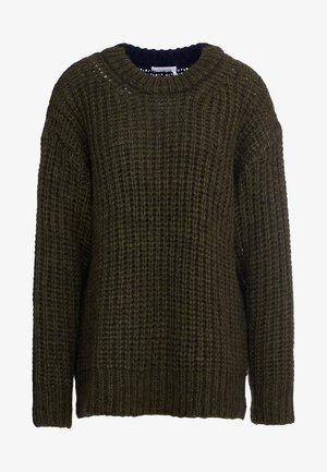 Sweter - black/green