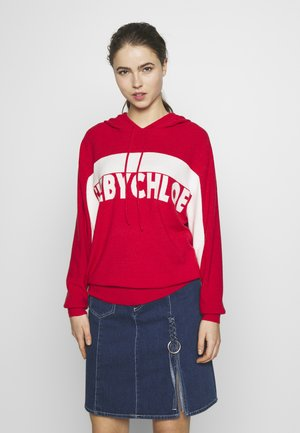 Hoodie - white/red