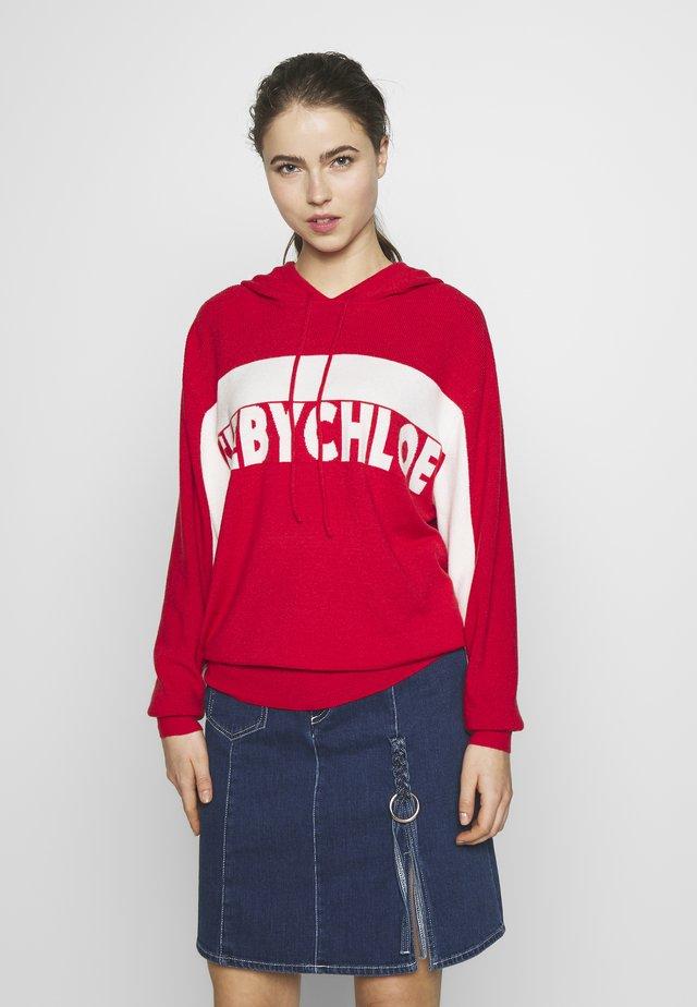Bluza z kapturem - white/red