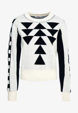 Pullover - white/black