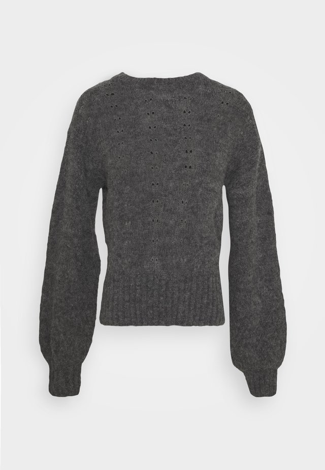 Strickpullover - charcoal black