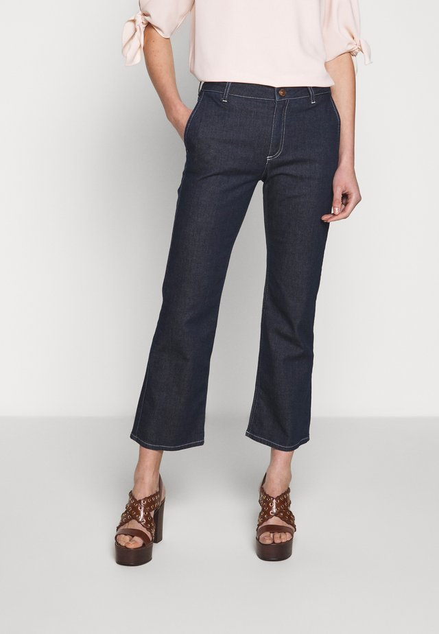 Flared Jeans - dark denim