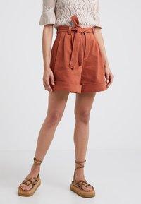 See by Chloé - Denim shorts - auburn orange - 0