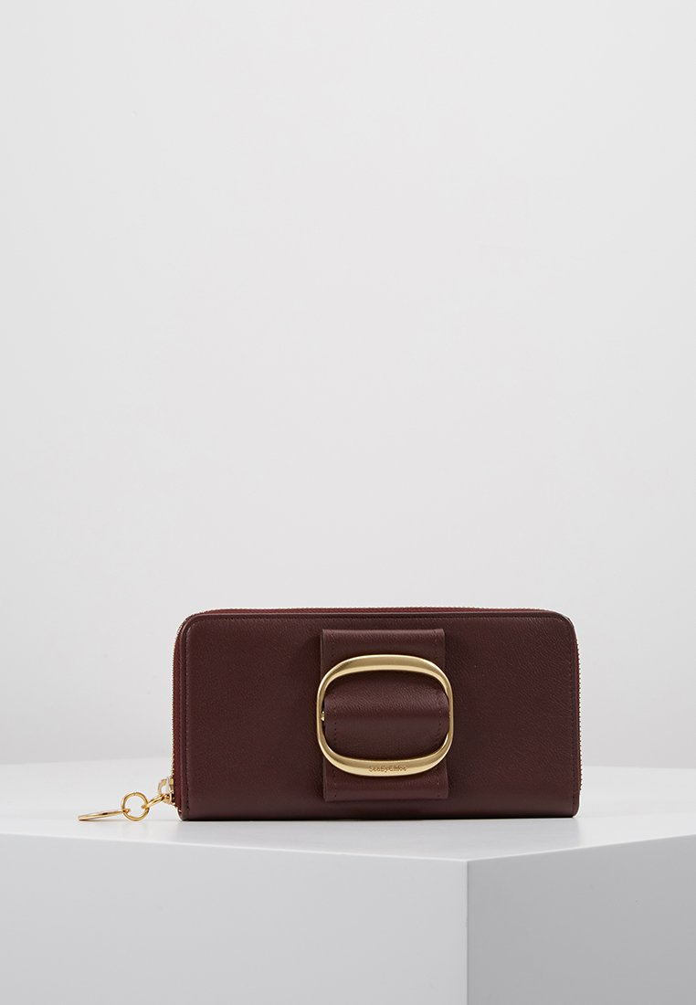 Hopper WalletPortefeuille Burgundy See Chloé By wk80OnPX