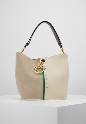 NEW BICOLOR SHOPPER - Handbag - cement beige