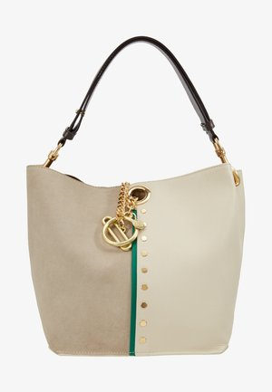 NEW BICOLOR SHOPPER - Torebka - cement beige