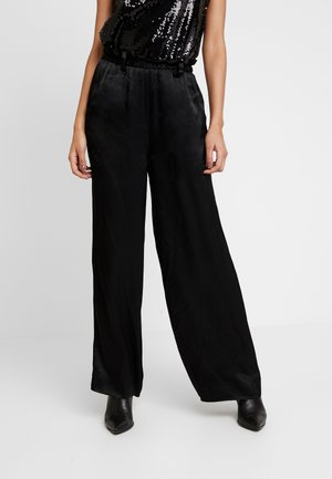 EDDY FRILL TROUSERS - Trousers - black