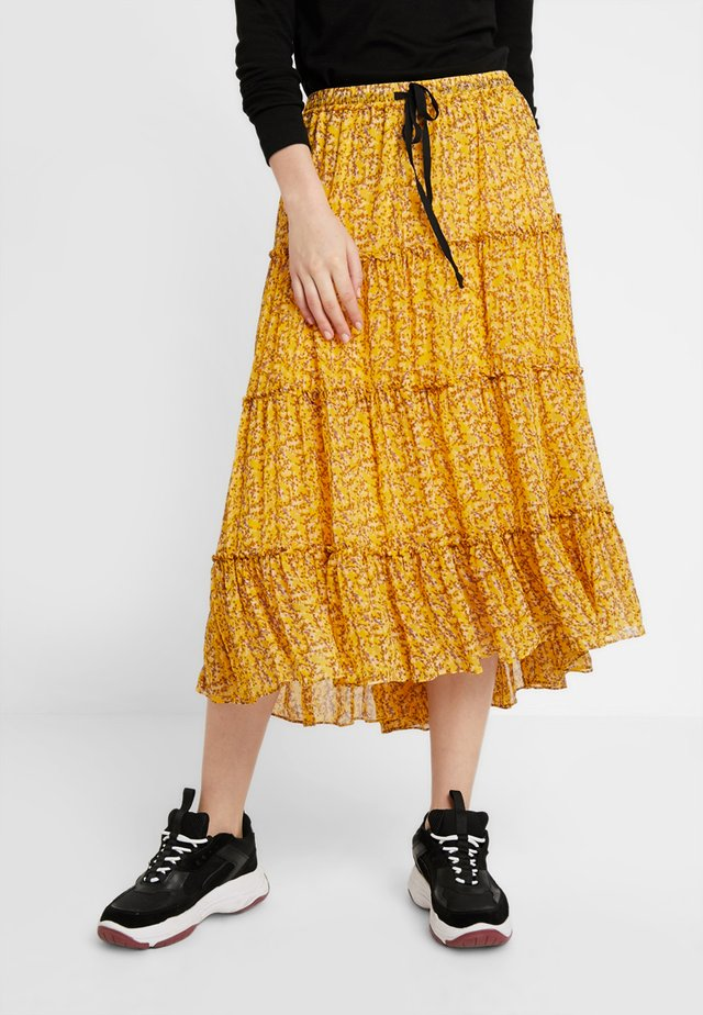 BRANCH MEDI SKIRT - Jupe trapèze - daffodil