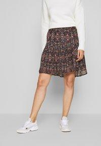 Second Female - SIGNE SHORT SKIRT - Mini skirt - black - 0