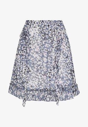 CLOUDS SHORT SKIRT - Mini skirt - faded denim