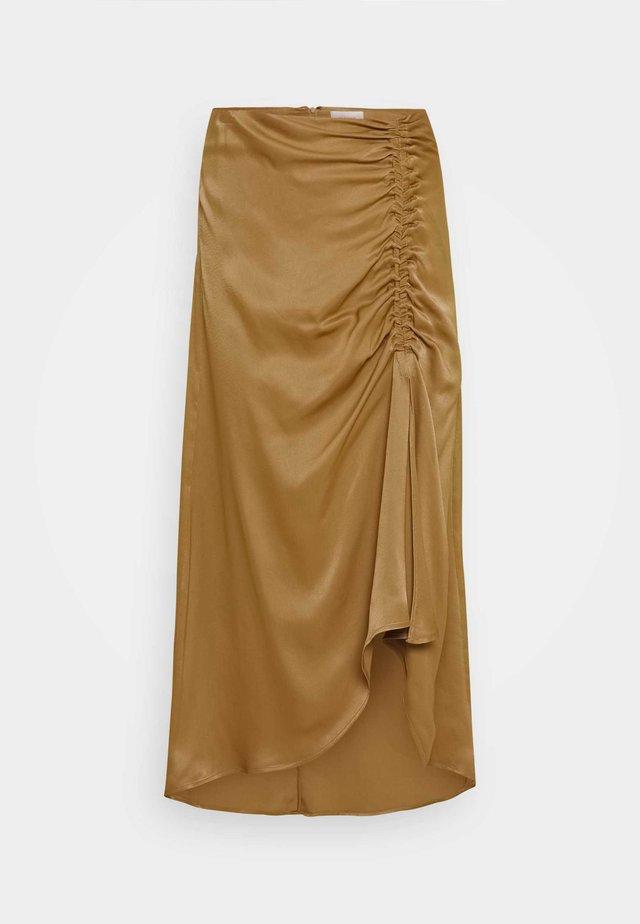 MIDI SKIRT - A-line skirt - butternut