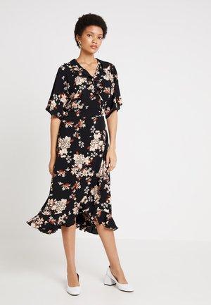 MORMAL WRAP DRESS - Kjole - black