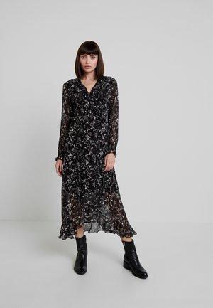 SAND WRAP DRESS - Vestido largo - black