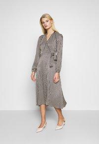 Second Female - WRAP DRESS - Day dress - black - 0
