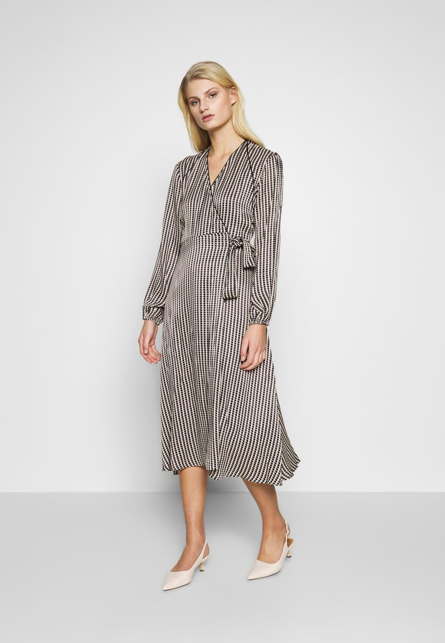 WRAP DRESS - Korte jurk - black
