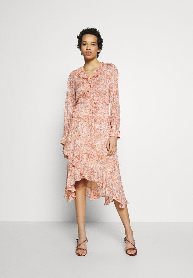 WRAP DRESS - Korte jurk - apricot brandy