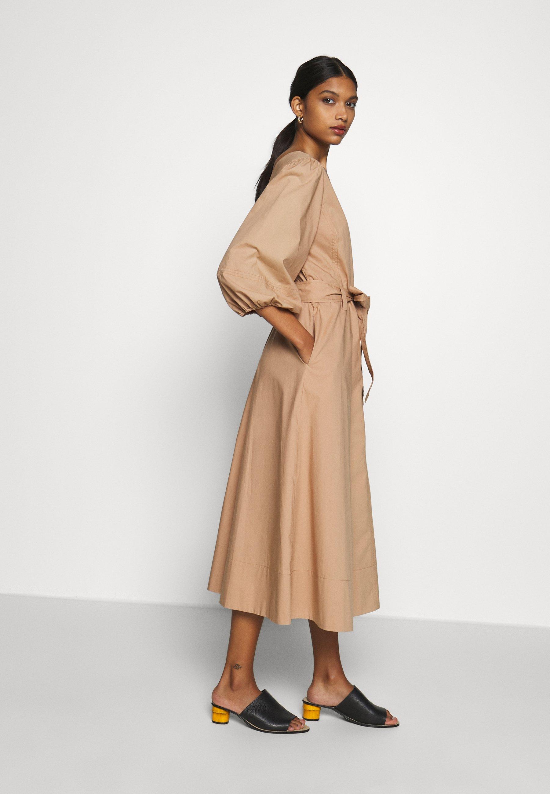 Second Female Phoebe Wrap Midi Dress - Day Praline