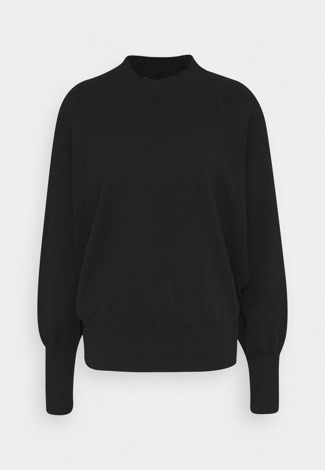 OCTAVIA T NECK - Stickad tröja - black