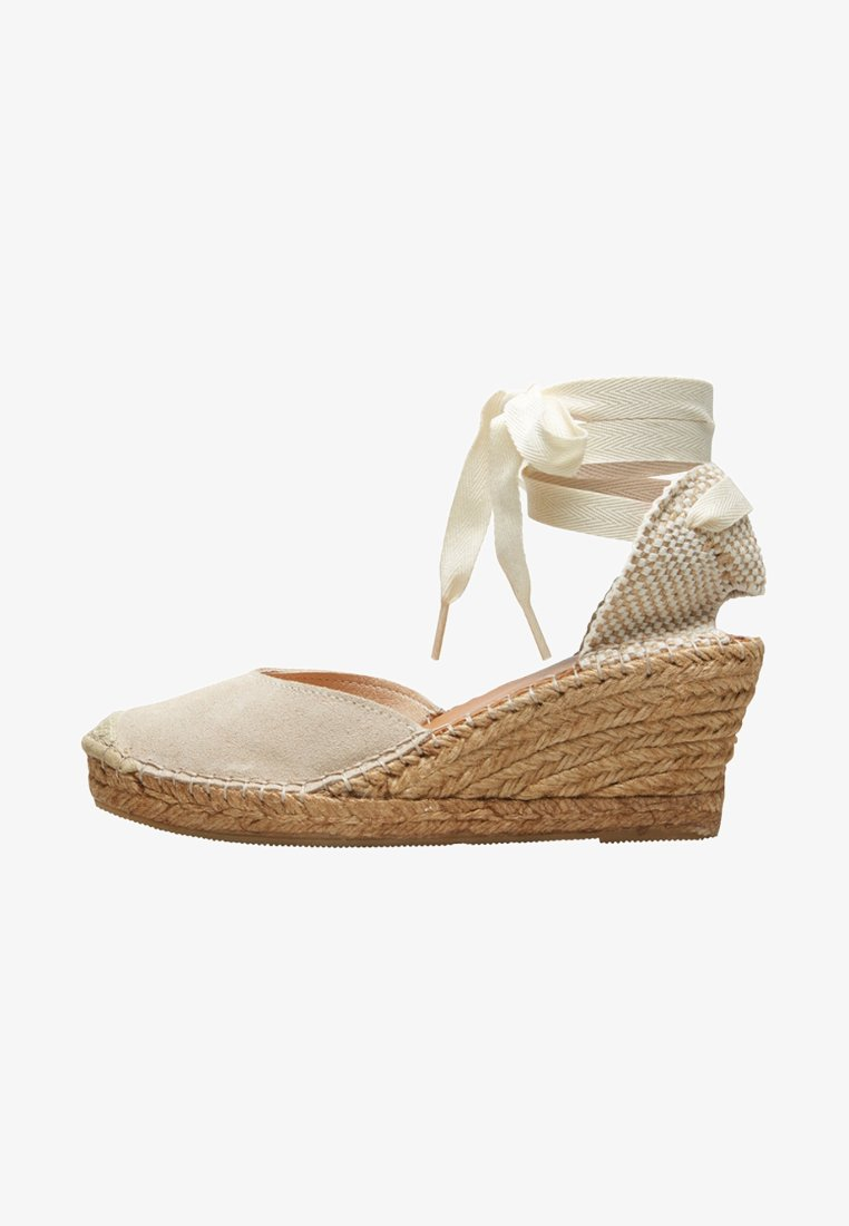 Selected Femme - Wedge sandals - sand