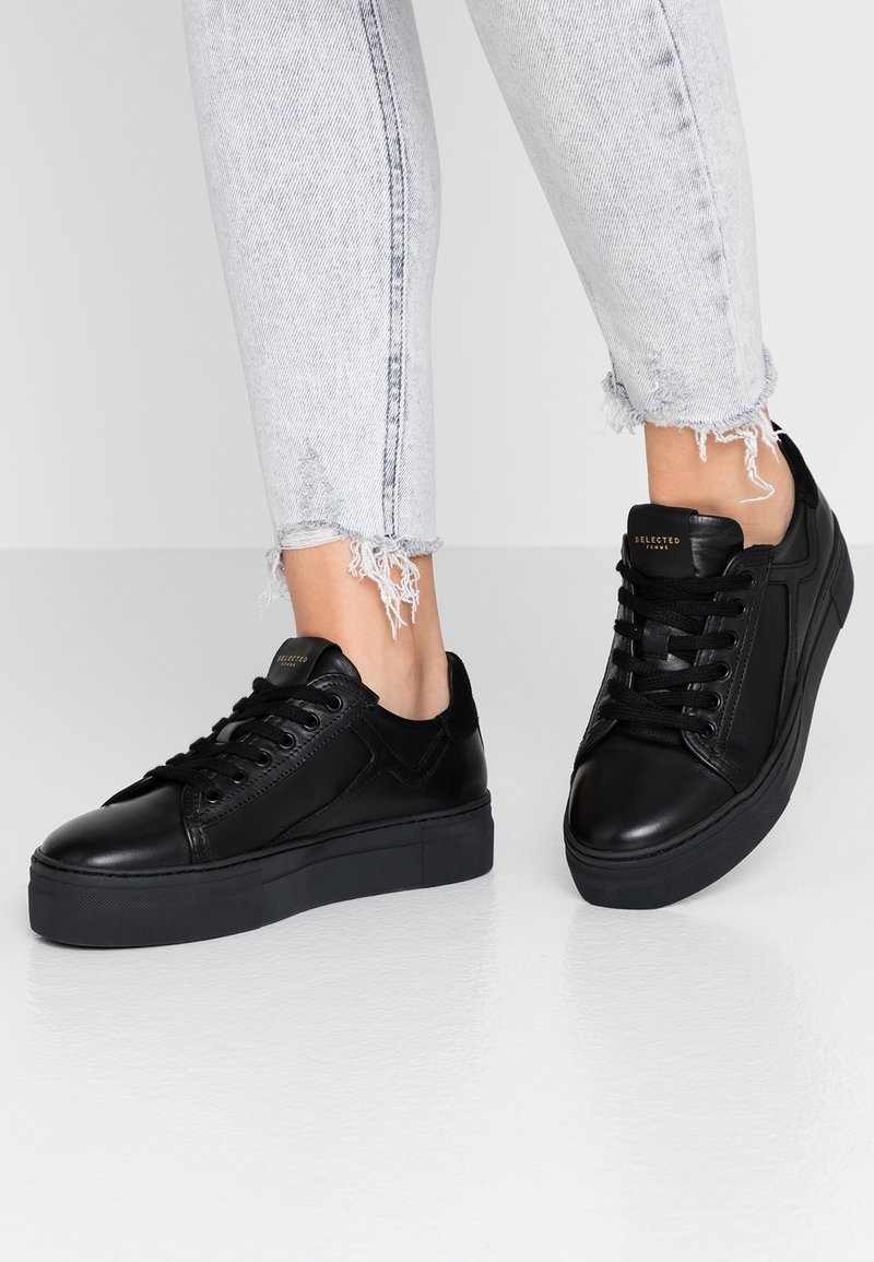 Selected Femme - SLFANNA RETRO TRAINER - Trainers - black