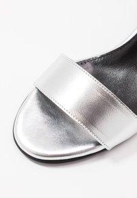 Selected Femme - SLFMERLENE METALLIC - Sandals - silver - 2