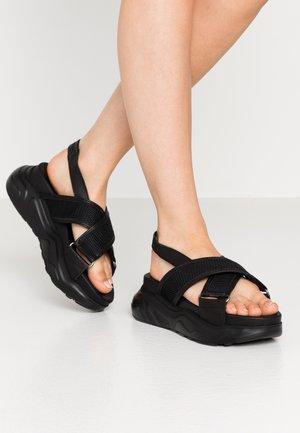 SLFOLLIE  - Platåsandaler - black
