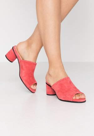 SLFMERLE NEW MULE  - Pantofle na podpatku - cranberry