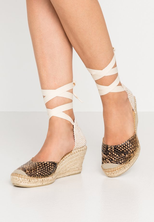 SLFPAM WEDGE - Platform heels - sand
