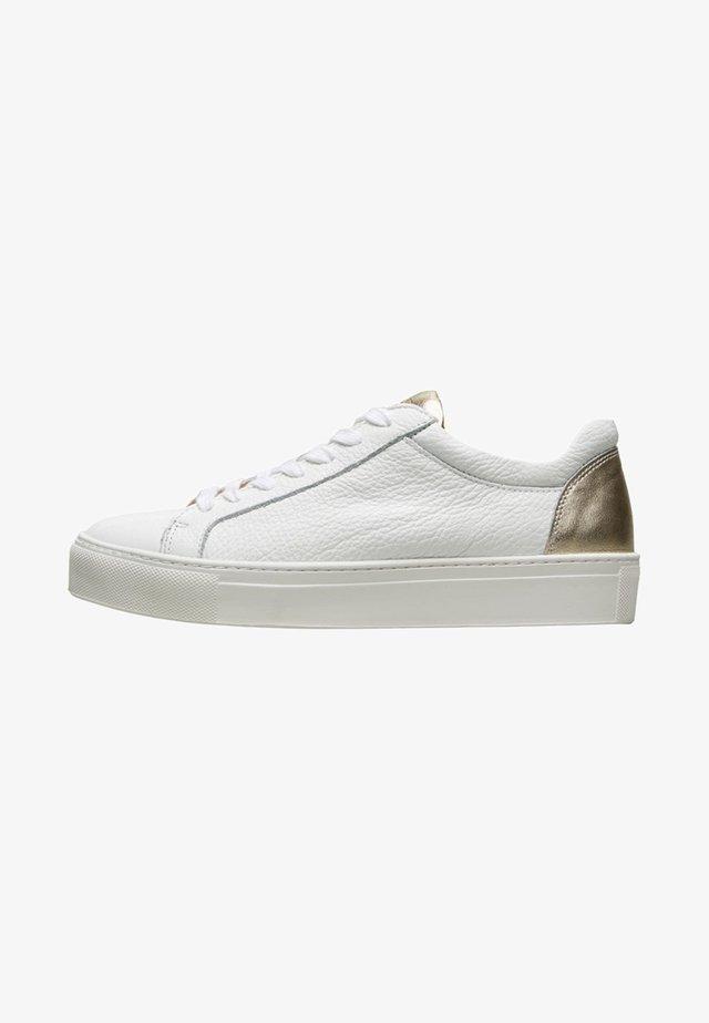 SFDONNA CONTRAST - Sneakersy niskie - gold