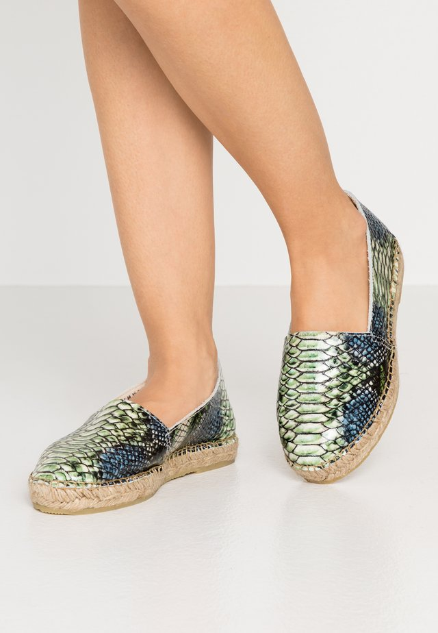 SLFMARIE SNAKE - Loafers - watercress