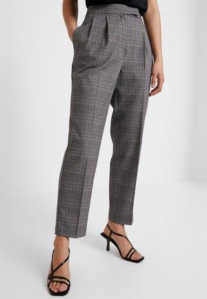 SLFMANNY CROPPED PANT - Trousers - medium grey melange