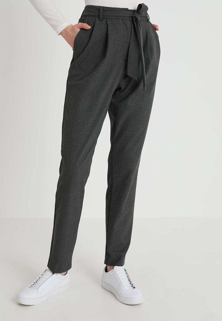 Selected Femme - SLFBIO KIPAS PANT  - Spodnie materiałowe - dark grey melange