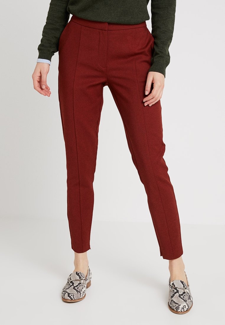 Selected Femme - SLFMUSE CROPPED PANT - Stoffhose - fired brick