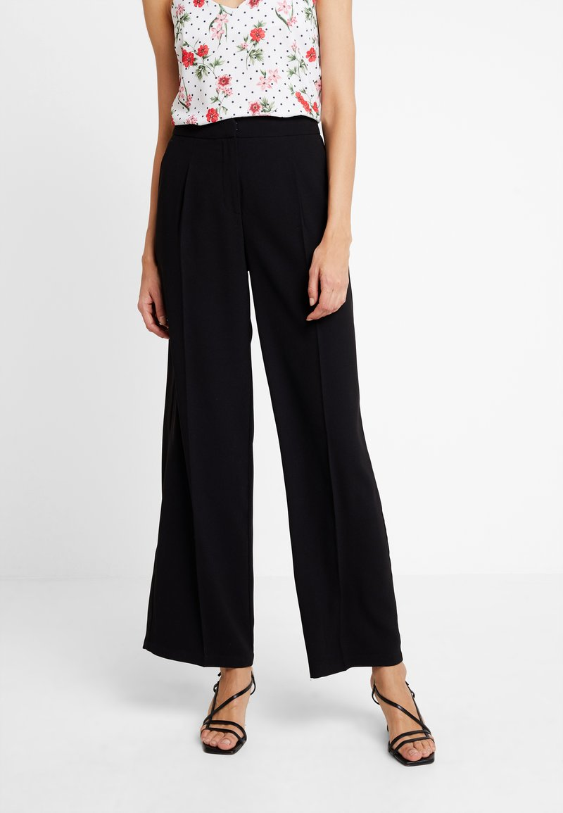 Selected Femme - SLFTINNI WIDE PANT - Bukse - black