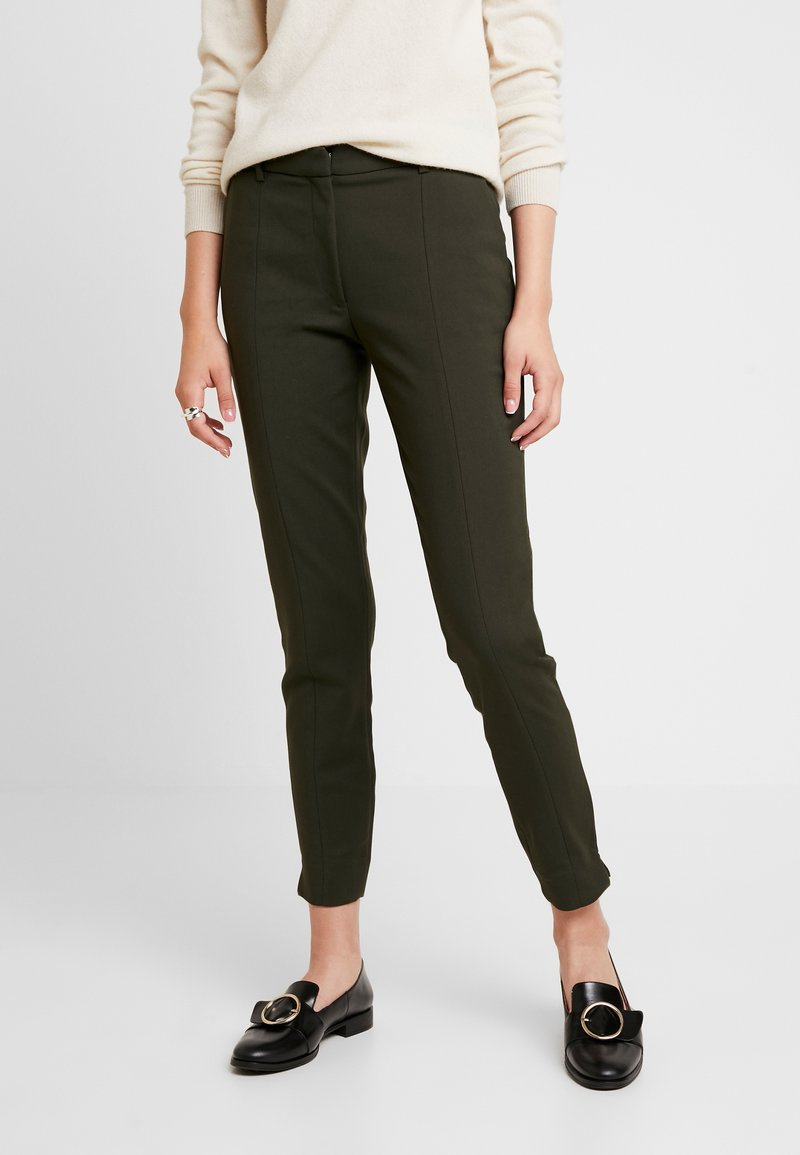 Selected Femme - SLFMUSE FIE CROPPED PANT - Bukse - khaki
