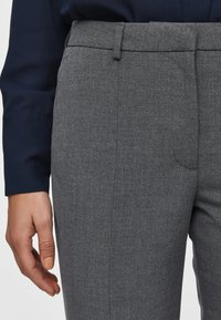 Selected Femme - MID WAIST - Bukse - medium grey melange - 4