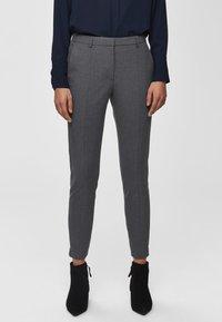 Selected Femme - MID WAIST - Bukse - medium grey melange - 0