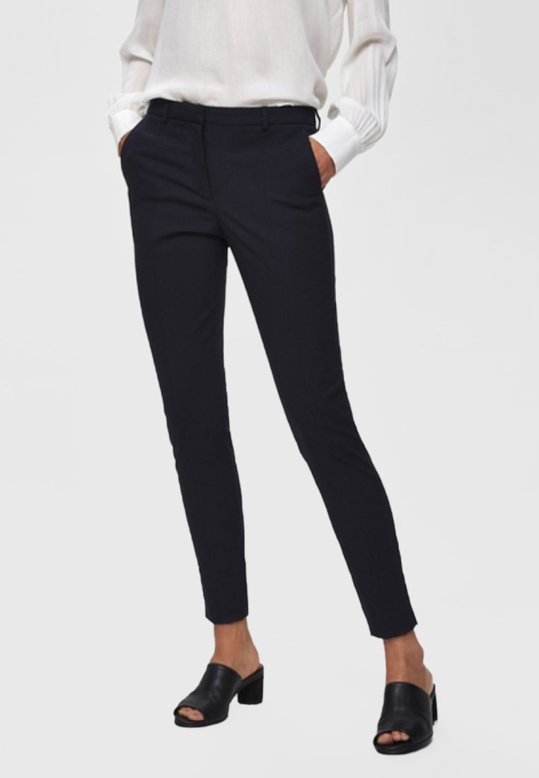 Selected Femme - Trousers - dark sapphire