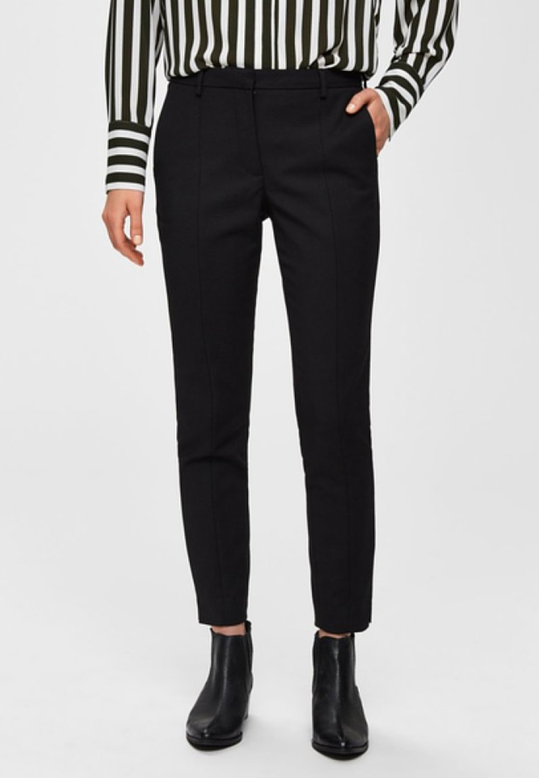Selected Femme - Chinos - black
