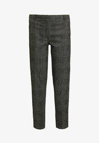 Selected Femme - SLFMUSI CROPPED PANT - Kalhoty - black/melange - 4