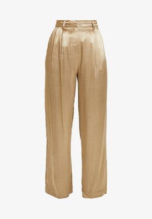 SLFDAKOTA WIDE PANT - Kalhoty - gold