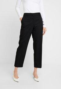 Selected Femme - SLFEMILO CROPPED PANT - Kalhoty - black - 0