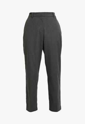 SLFEMILO CROPPED PANT - Tygbyxor - medium grey melange