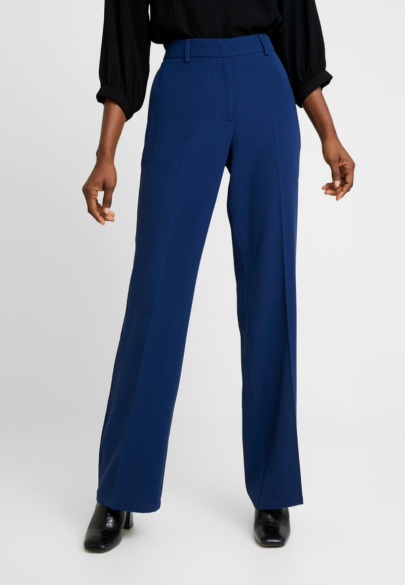 Selected Femme - SLFALICIA FLARED PANT B - Trousers - medieval blue