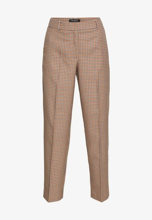 SLFEMILO LEA CROPPED PANT CHECK - Trousers - cornstalk