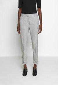 Selected Femme - SLFLUNA PANT - Broek - light grey melange - 0