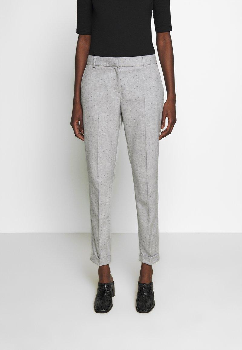 Selected Femme - SLFLUNA PANT - Broek - light grey melange