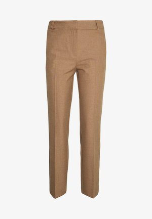 SLFRIA CROPPED PANT - Spodnie materiałowe - camel/melange