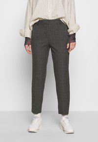 Selected Femme - SLFRIA CROPPED PANT CHECK - Kalhoty - maritime blue - 0